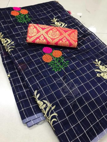 soft kota fabric saree