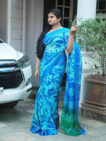 Soft Kota Cotton Saree with Satin Borders