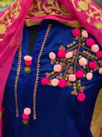 Modal Chanderi Cotton With Khatali Hand Work