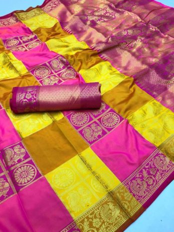Soft banarasi Kanchipuram silk saree