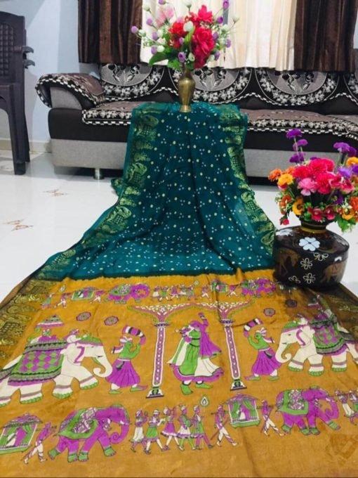 Art Silk Saree With Zari Waving