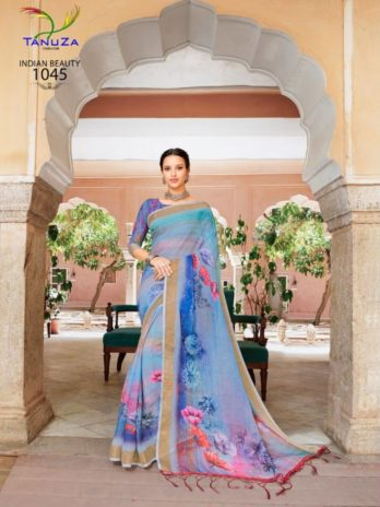 Linen Fabric Saree